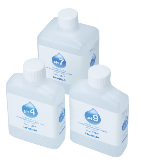 Standard Solution Set: pH 4 250ml | pH7  500ml | pH9 250ml  Reference Electrode Internal Solution #300 250ml | 1x dropper each